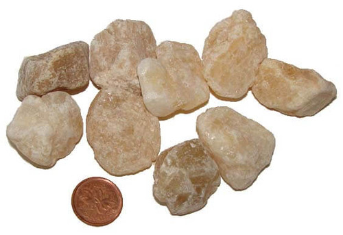 Raw Honey Calcite stones - size medium
