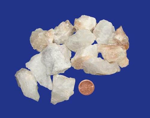 Raw White Calcite Stones - size medium