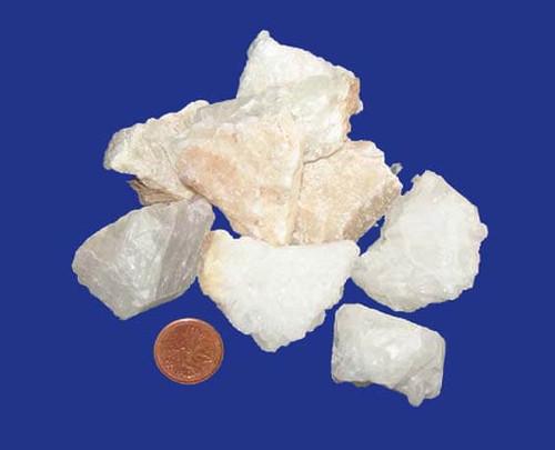 Rough White Calcite Stones - size large