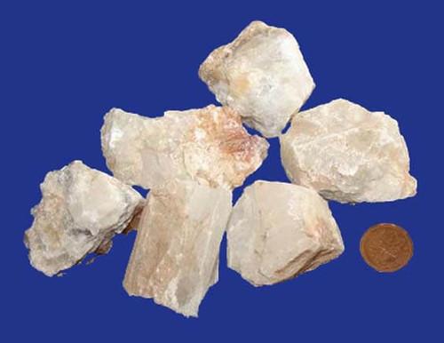 White Calcite Rough Stones - size XXX large