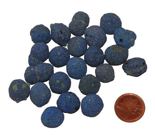 Natural Azurite stone berries - size small