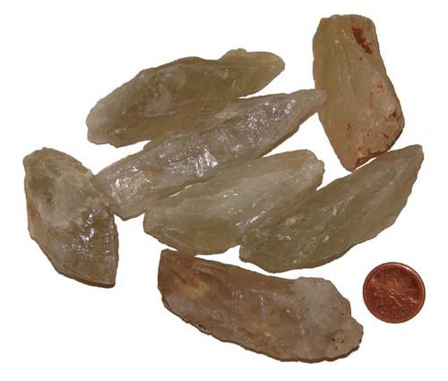 Green Quartz Rough stones - size Large