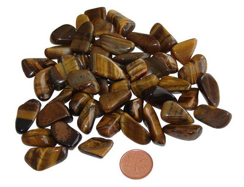 extra small tumbled gold tiger eye stones