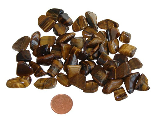 teeny tumbled gold tiger eye stones