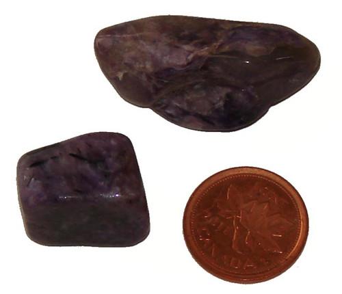 Tumbled Charoite stones - size 9 grams