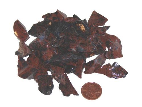 Raw Mahogany Obsidian stones - size extra small
