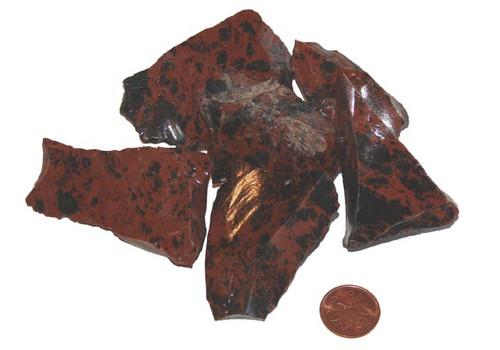 Mahogany Obsidian Raw Stones - size extra large