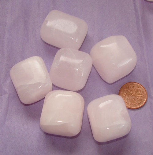 Pink Mangano Calcite Stones - size Extra Large