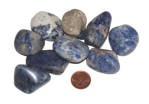 Tumbled Sodalite stones - size extra large