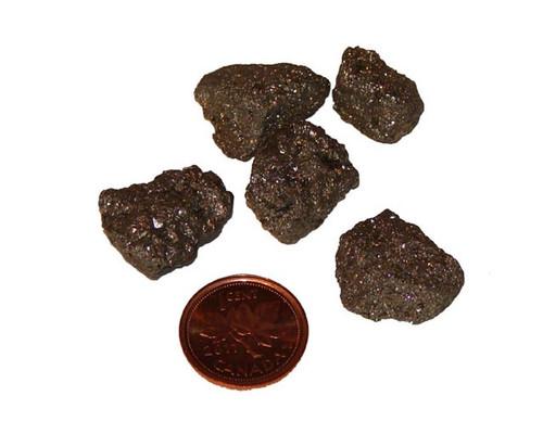 Raw Iron Pyrite stones - size small