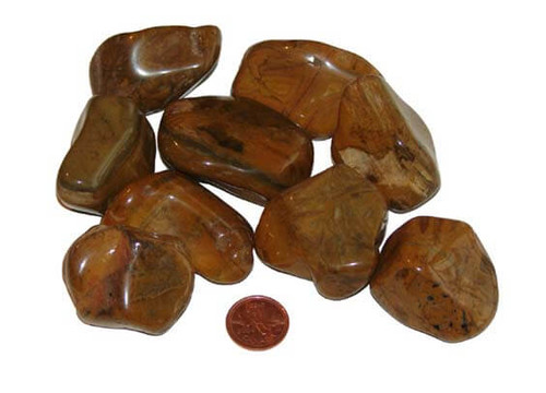 Tumbled Yellow Jasper Stones - huge