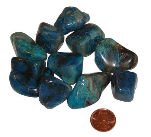 Tumbled Chrysocolla Stones -Size  Large