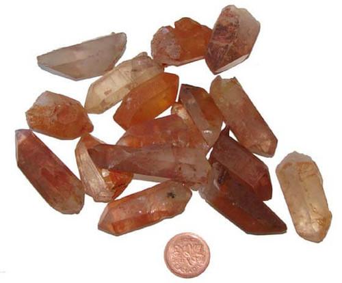 Tangerine Quartz points - size medium