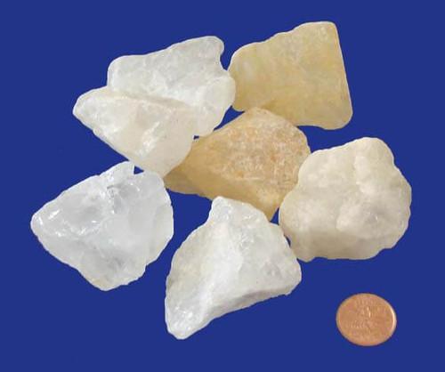 Raw White Milky Quartz Stones - size XX large