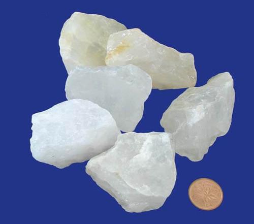 Rough Milky White Quartz Stones - size XXX large