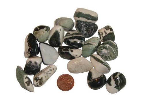 Tumbled Green Sardonyx Stones - small
