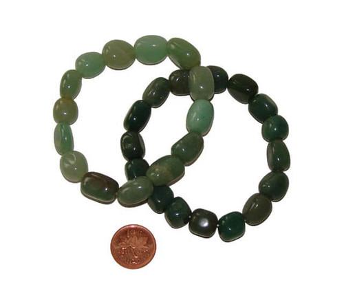 Green Aventurine Tumbled Stone Bracelets