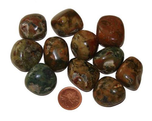 Rhyolite Tumbled Stones - size Large