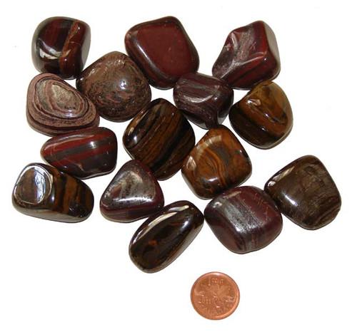Tumbled Tiger Iron stones - size Size XL