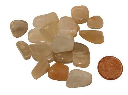 Tumbled Moonstone stones - size teeny