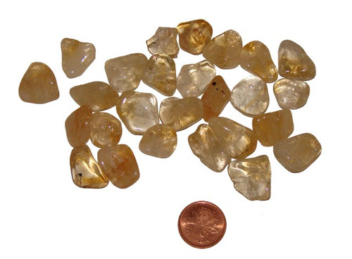 Tumbled Citrine stones - size extra small