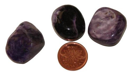 Tumbled Charoite stones - size 12 grams
