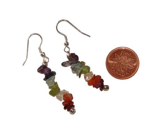 Chakra chipstone earrings