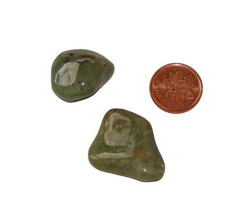 Tumbled Grossular Garnet stones - size medium