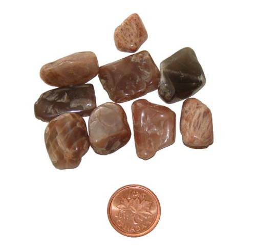 Tumbled dark Moonstone stones - size extra small