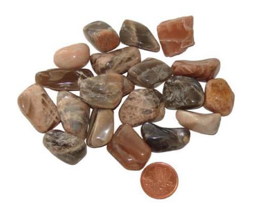 Tumbled Dark Moonstone - size small