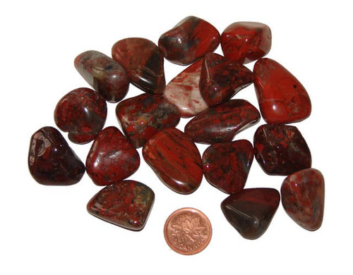 Tumbled Brecciated Jasper Stones - Small