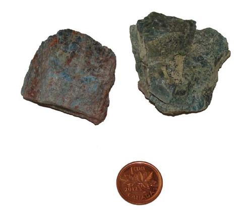 Raw Blue Apatite stones - Size Huge