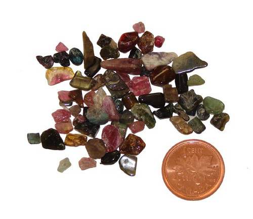 Mixed Tourmaline stones - 10 grams