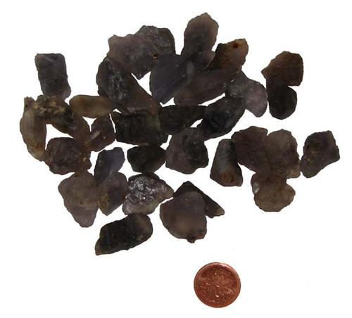 Raw Iolite stones - extra small