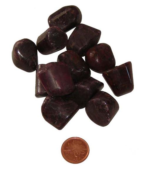 Tumbled Ruby stones - size large
