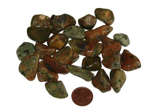 Tumbled Rhyolite stones - size small