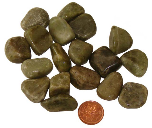 Tumbled Vesuvianite aka Idocrase stones - size small