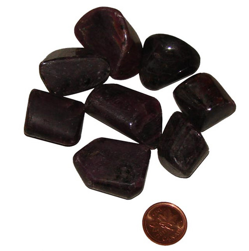 Tumbled loose Ruby stones - size extra large