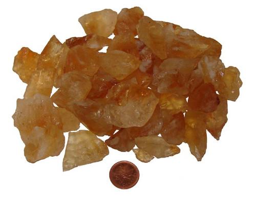 Rough Citrine Stones - size small