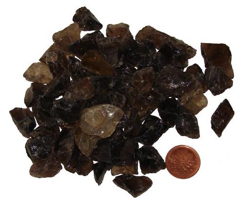 Rough Smokey Quartz stones - size teeny
