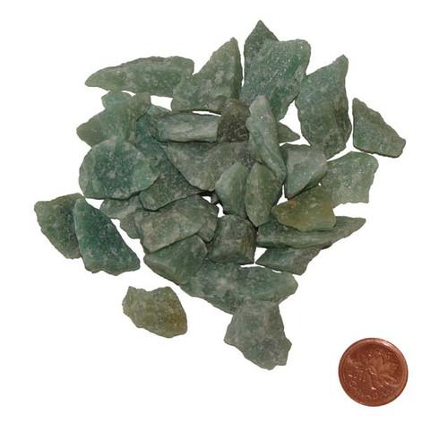 Rough Green Aventurine Healing Stones - extra small