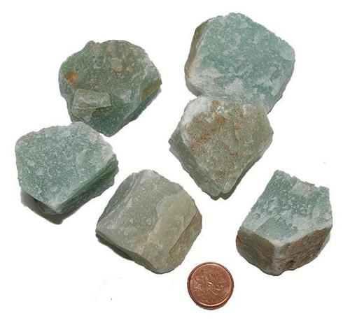 Green Aventurine Raw Stones - size XXXL