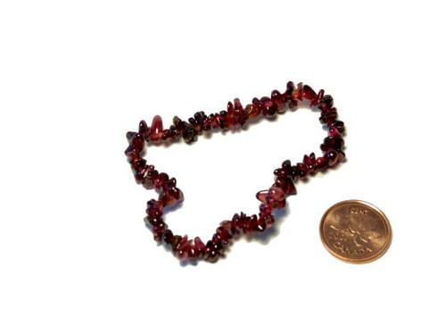 Garnet chipstone bracelet