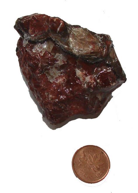 Rough Red Calcite Stone, Specimen A, Image 1
