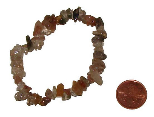 Rutilated Quartz Chipstone Bracelet