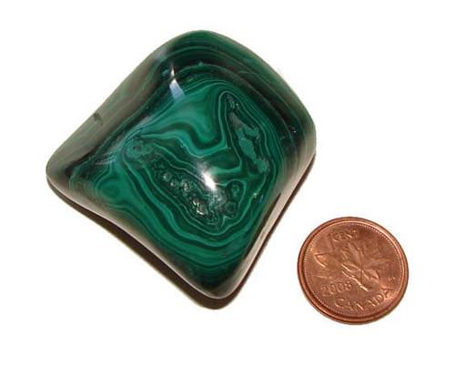 Tumbled Malachite Stone - Specimen H - Image 1