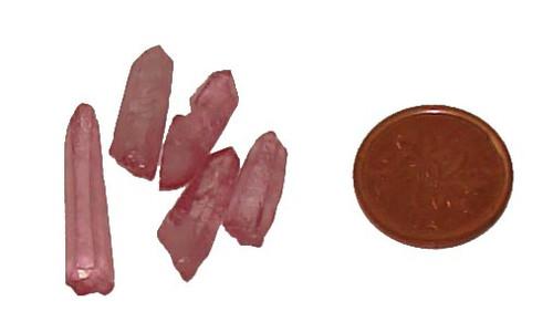 Rose Aura Quartz points - size 3/4 gram