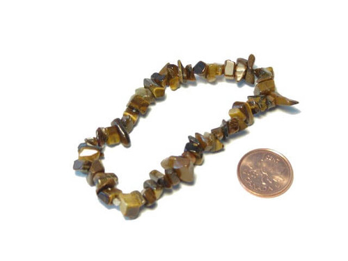 gold tigers eye chipstone bracelet