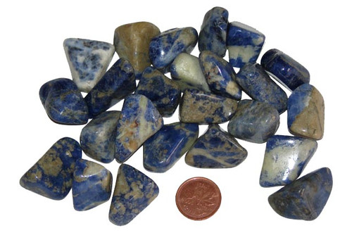 Small tumbled Sodalite stones