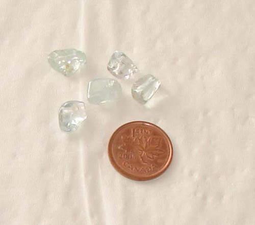 Tumbled Blue Topaz Crystals - 3/4 gram